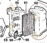Pièces détachées Filtre à Air Complet 3700377