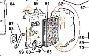 Spare parts Complete Air Cleaner 3700377 For Engines LOMBARDINI, by marks LOMBARDINI