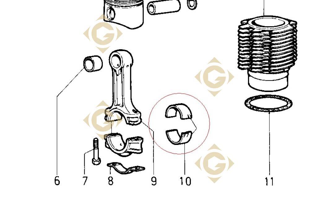 coussinet de bielle std 1640040 moteur lombardini 7ld 665 gdn industries. Black Bedroom Furniture Sets. Home Design Ideas