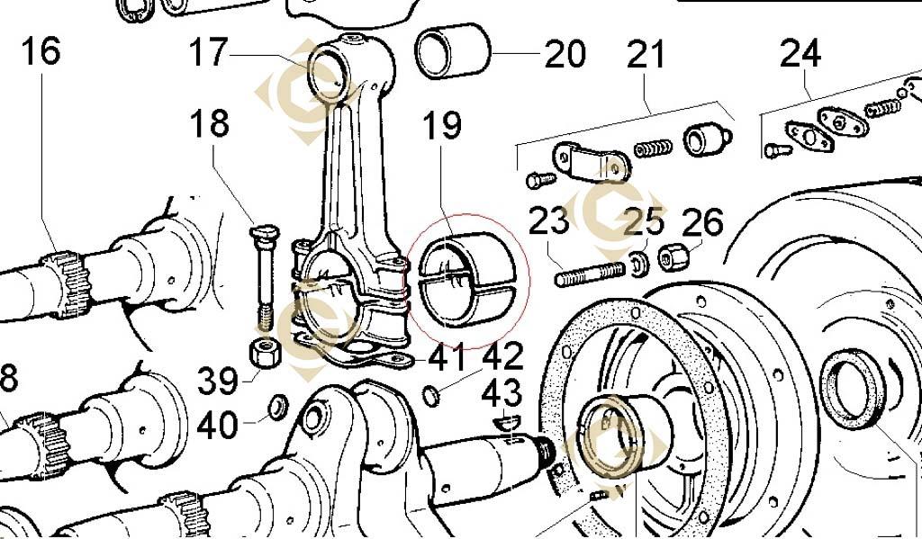 coussinet de bielle std 1640027 moteurs lombardini gdn industries. Black Bedroom Furniture Sets. Home Design Ideas