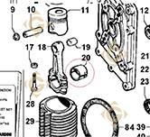Coussinet de bielle -0,5 1640084 moteurs Lombardini