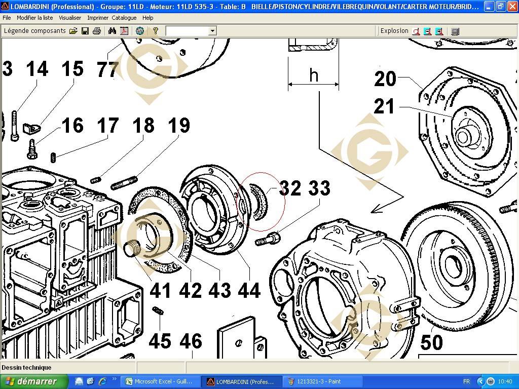 bague d 39 tancheit 1213349 moteur lombardini ldw 1603 gdn industries. Black Bedroom Furniture Sets. Home Design Ideas