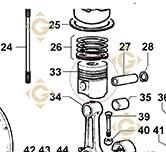 Complete Piston 6501336 engines LOMBARDINI
