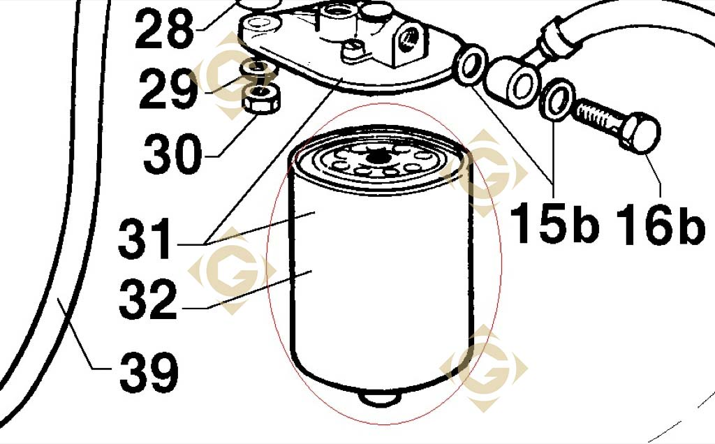 oil filter cartridge 2175197 engines lombardini