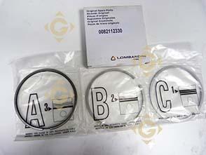 Pièces détachées Série Segment std 8211233 Pour Moteurs Lombardini, de marque Lombardini