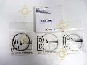 Pièces détachées Série Segment std 8211141 Pour Moteurs Lombardini, de marque Lombardini