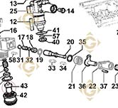 Injector 6531436 engines LOMBARDINI