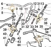 Groupe porte-injecteur 4896249 moteurs Lombardini
