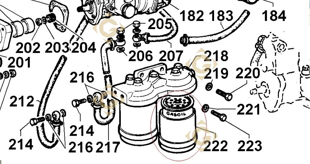 fuel filter cartridge 2175042 engines lombardini