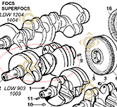 Conical Cranckshaft 1051105 engines LOMBARDINI