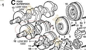 Pièces détachées Vilebrequin Conique 1051105 Pour Moteurs Lombardini, de marque Lombardini