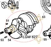 Vilebrequin Conique 1051109 moteurs Lombardini