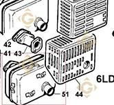 Echappement 5460433 moteurs Lombardini