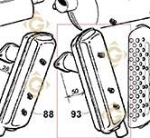 Echappement 5460326 moteurs Lombardini