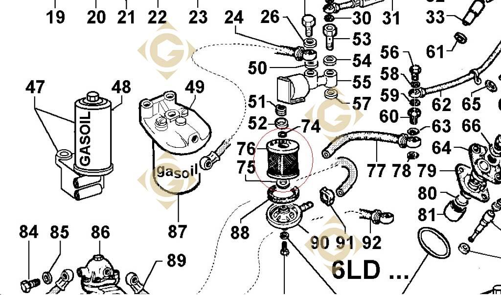 fuel filter cartridge 2175032 engines lombardini
