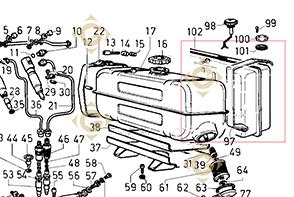 Pièces détachées Réservoir 8103021 Pour Moteurs Lombardini, de marque Lombardini
