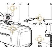 Tank Cap 9043037 engines LOMBARDINI