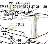 Spare parts Tank Cap 9043092