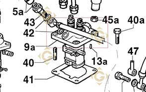 Spare parts Injector Pump 6590468 For Engines LOMBARDINI, by marks LOMBARDINI