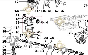 Spare parts Injector Pump 6590285 For Engines LOMBARDINI, by marks LOMBARDINI