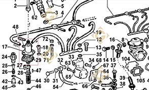 Spare parts Injector Pump 6590376 For Engines LOMBARDINI, by marks LOMBARDINI