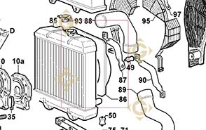 Spare parts Shroud 2569653 For Engines LOMBARDINI, by marks LOMBARDINI
