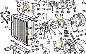 Spare parts Shroud 2569518 For Engines LOMBARDINI, by marks LOMBARDINI