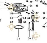 Valve Guide 4845168 engines LOMBARDINI