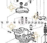 Guide Soupape 4845158 moteurs Lombardini