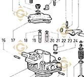 Valve Guide 4845160 engines LOMBARDINI