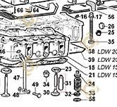 Valve Guide 4845251 engines LOMBARDINI