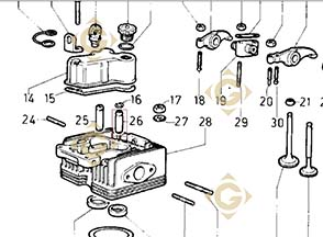Spare parts Valve Guide 4845248 For Engines LOMBARDINI, by marks LOMBARDINI