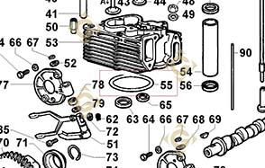 Pièces détachées Joint de Culasse 0,70 4730564 Pour Moteurs Lombardini, de marque Lombardini