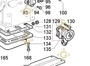 Spare parts Head Gasket Std 4730021 For Engines LOMBARDINI, by marks LOMBARDINI