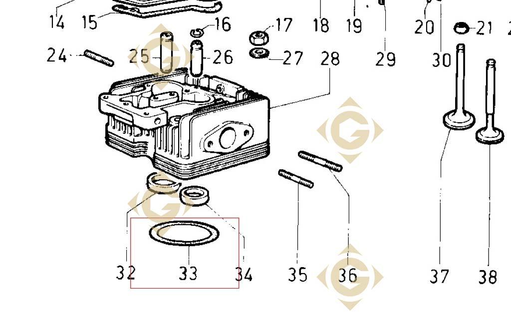 head gasket 0 70 4730074 engine lombardini 8ld 665 gdn. Black Bedroom Furniture Sets. Home Design Ideas