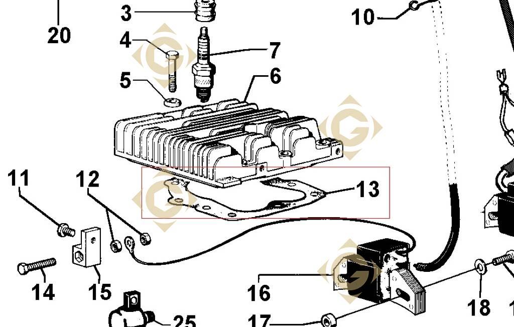 head gasket std 4730537 engines lombardini gdn industries. Black Bedroom Furniture Sets. Home Design Ideas