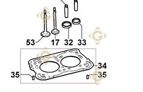 Pièces détachées Joint de Culasse 0,83 4730766 Pour Moteurs Lombardini, de marque Lombardini