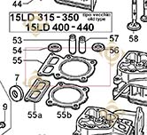 Head Gasket 1,00 4730759 engines LOMBARDINI