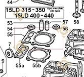 Head Gasket 1,10 4730755 engines LOMBARDINI