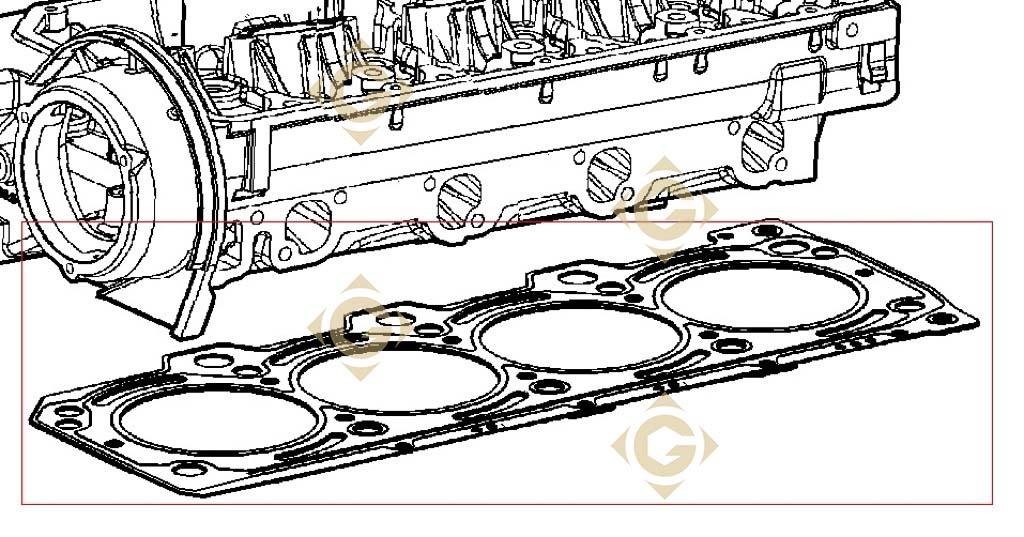 head gasket 1 70 4730715 engine lombardini ldw 1204 t. Black Bedroom Furniture Sets. Home Design Ideas