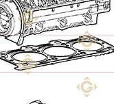 Head Gasket 1,55 4730596 engines LOMBARDINI