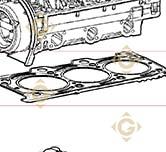 Head Gasket 1,45 4730004 engines LOMBARDINI