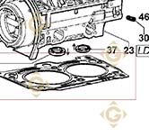 Head Gasket 1,66 4730827 engines LOMBARDINI