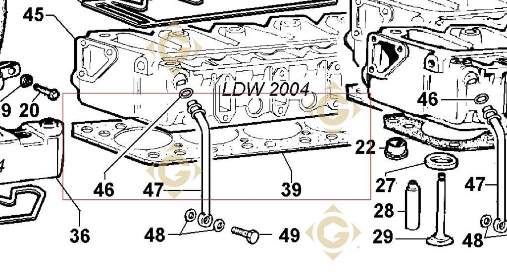 head gasket 1 80 4730734 engines lombardini gdn industries. Black Bedroom Furniture Sets. Home Design Ideas