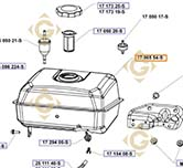 Réservoir k1706587s moteurs Kohler