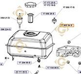 Réservoir K17 065 54-S moteurs Kohler