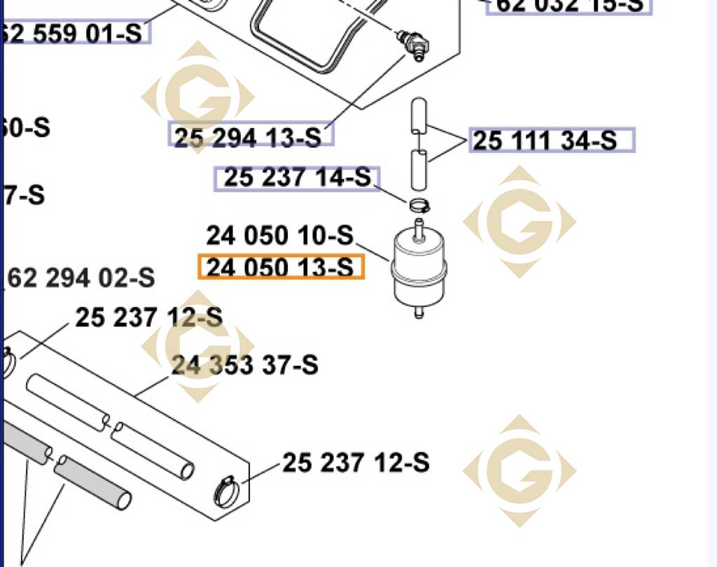 Fuel Filter K2405013s Engines Kohler Gdn Industries 7 3 Assembly Spare Parts For By Marks