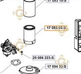 Filtre à air K17 083 03-S moteurs Kohler