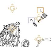 Spare parts Oil Level Cap k1703808s