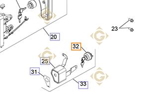 Pièces détachées Contacteur à clefs k2509932s Pour Moteurs Kohler, de marque Kohler